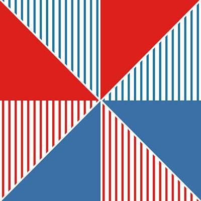Americana Pinwheel Print by Linda Woods