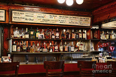 Americana - The Old Man Bar Print by Paul Ward