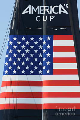 America's Cup In San Francisco - Oracle Team Usa - 5d18364 Print by Wingsdomain Art and Photography