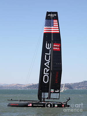 America's Cup In San Francisco - Oracle Team Usa 4 - 5d18225 Print by Wingsdomain Art and Photography