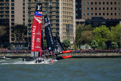 Sailboat Photograph - America's Cup Nyc New York by Susan Candelario