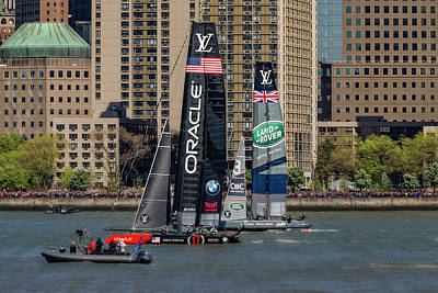 America's Cup World Series Nyc Print by Susan Candelario