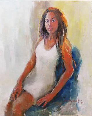 Becky Kim Artist Painting - Amethyst by Becky Kim