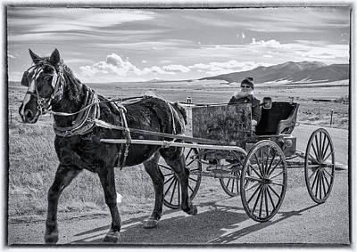 Amish Community Photograph - Amish Buggy Driver by John Bartelt