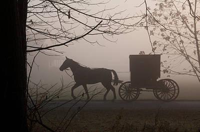 Amish Photograph - Amish Morning 1 by David Arment