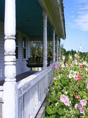 Amish Porch Print by Ed Smith