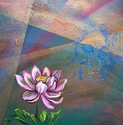 Painting - Amma Birth Chart by Andrea LaHue