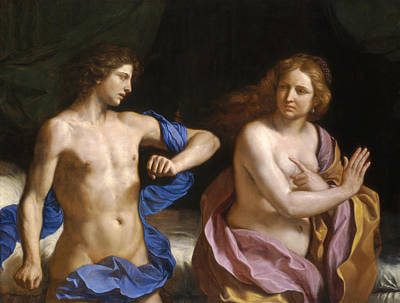 Guercino Painting - Amnon And Tamar by Guercino