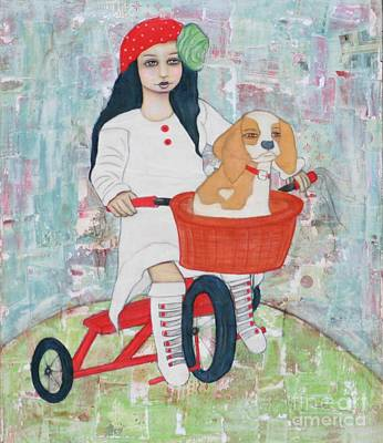Painting - Amour De Chiot by Natalie Briney
