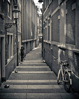Bicycle Photograph - Amsterdam by Adam Romanowicz