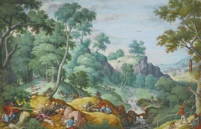 Mechelen Painting - Amsterdam An Extensive Landscape by Hans Bol MECHELEN