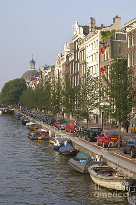 Amsterdam Canal Print by Andy Smy