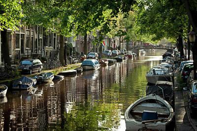 Amsterdam Photograph - Amsterdam Canal by Joan Carroll