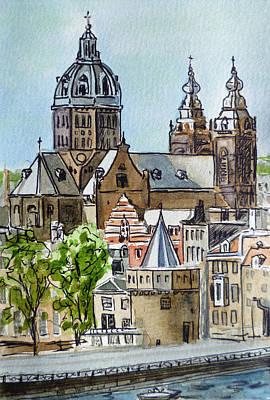Library Painting - Amsterdam Holland by Irina Sztukowski
