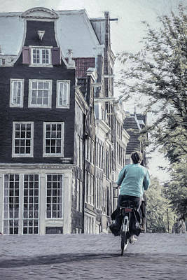 Bicycle Photograph - Amsterdam Icon by Joan Carroll