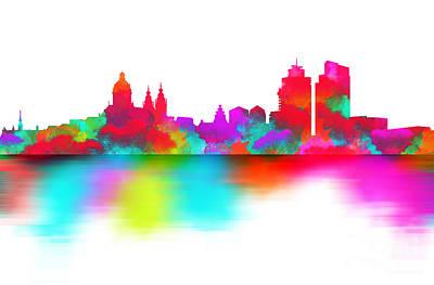 White Digital Art - Amsterdam Skyline by Prarthana Kulasekara