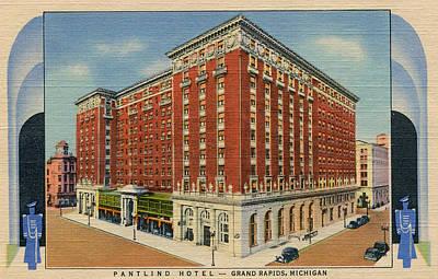 Amway Grand Plaza Pantlind Hotel - Grand Rapids, Michigan Print by Steven Covieo