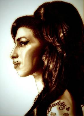 Soul Singer Drawing - Amy by Fred Larucci