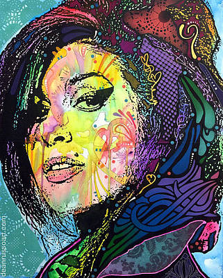 Painting - Amy Winehouse Back To Blue by Dean Russo