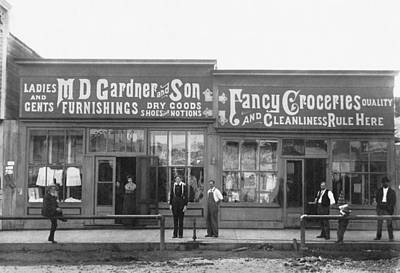 General Store Photograph - An 1890 General Store by Underwood Archives