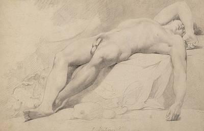 Homo Drawing - An Academy by John Hamilton Mortimer