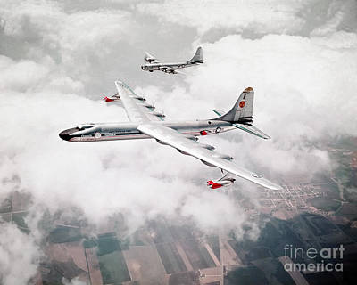 N.b.a Painting - An Air-to-air View Of The Convair Nb-36h Peacemaker by Celestial Images