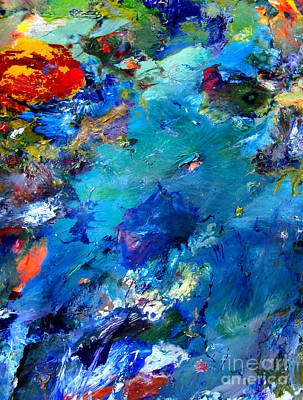 Microscopic Painting - An Alien World View by Charlie Spear