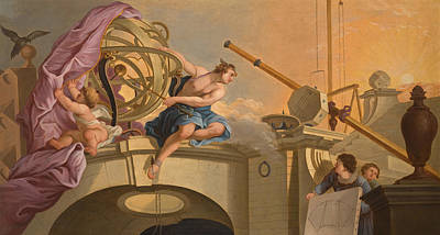 Jacques De Lajoue Painting - An Allegory Of Astronomy by After Jacques de Lajoue