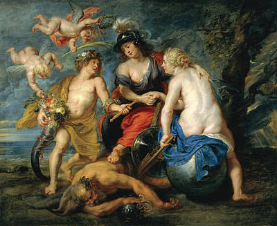An Allegory Of Good And Bad Government Print by Theodoor van Thulden