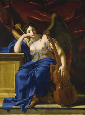 Painting - An Allegory Of Poetry by Eustache Le Sueur