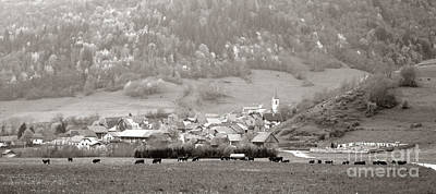 Old House Photograph - An Alpine Village  by Olivier Le Queinec