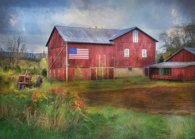 Rural Scenes Mixed Media - An American Farm by Lori Deiter