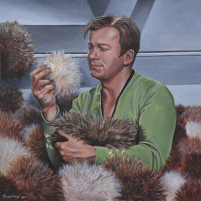 Captain Kirk Painting - An Amusing Predicament by Kim Lockman