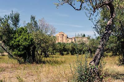 An Ancient Abbey - Italian Landscape 2 Print by Andrea Mazzocchetti