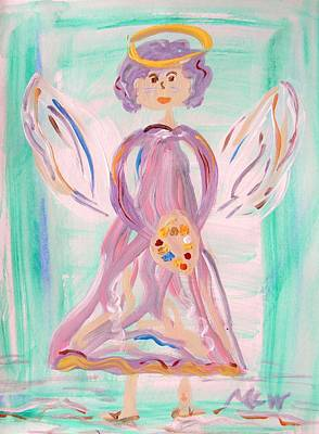 Simplicity Drawing - An Angel Of Vision by Mary Carol Williams