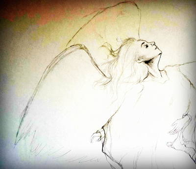 Women Drawing - An Angels Dance by Georgia Doyle  brushhandle