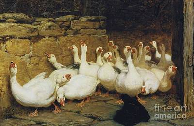 An Anxious Moment Print by Briton Riviere