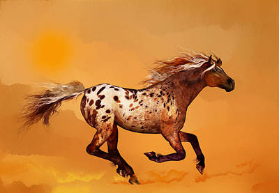 Horse Painting - An Appaloosa Called Ginger by Valerie Anne Kelly
