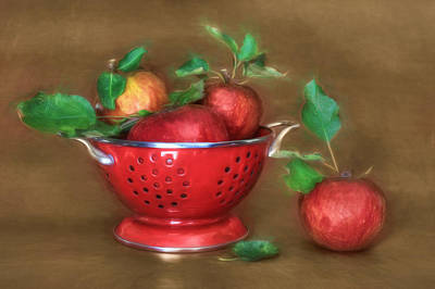 Digital Art - An Apple A Day by Lori Deiter