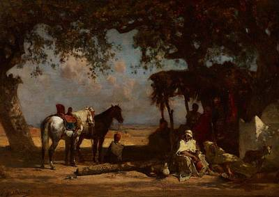 Bedouin Painting - An Arab Encampment by Gustave Guillaumet