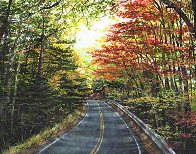 Forestry Painting - An Autumn Day by Shana Rowe Jackson