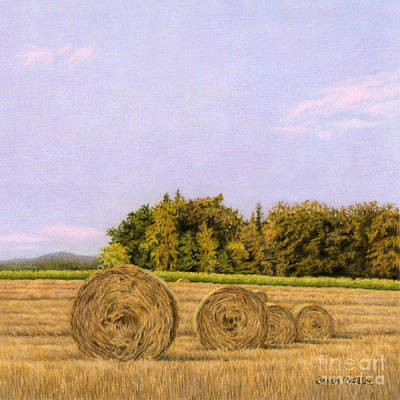 Rural Art Drawing - An Autumn Evening by Sarah Batalka