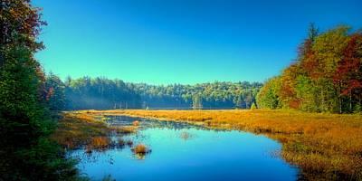 Adirondacks Photograph - An Autumn Morning At Cary Lake by David Patterson