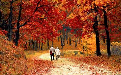 Photograph - An Autumn Walk by David Dehner