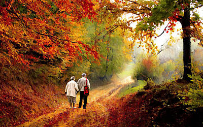 Photograph - An Autumn Walk II by David Dehner