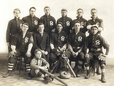 An Early Sf Baseball Team Print by American School