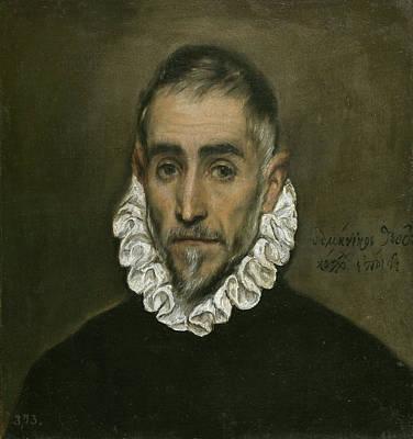 Man Painting - An Elderly Gentleman by El Greco