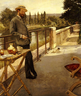 An Elegant Man On A Terrace Print by Henri Gervex