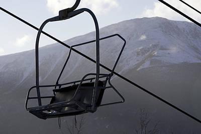 An Empty Chair Lift At A Ski Resort Print by Tim Laman