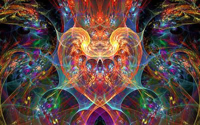 Bipolar Digital Art - An Energetic Heart by Peggi Wolfe